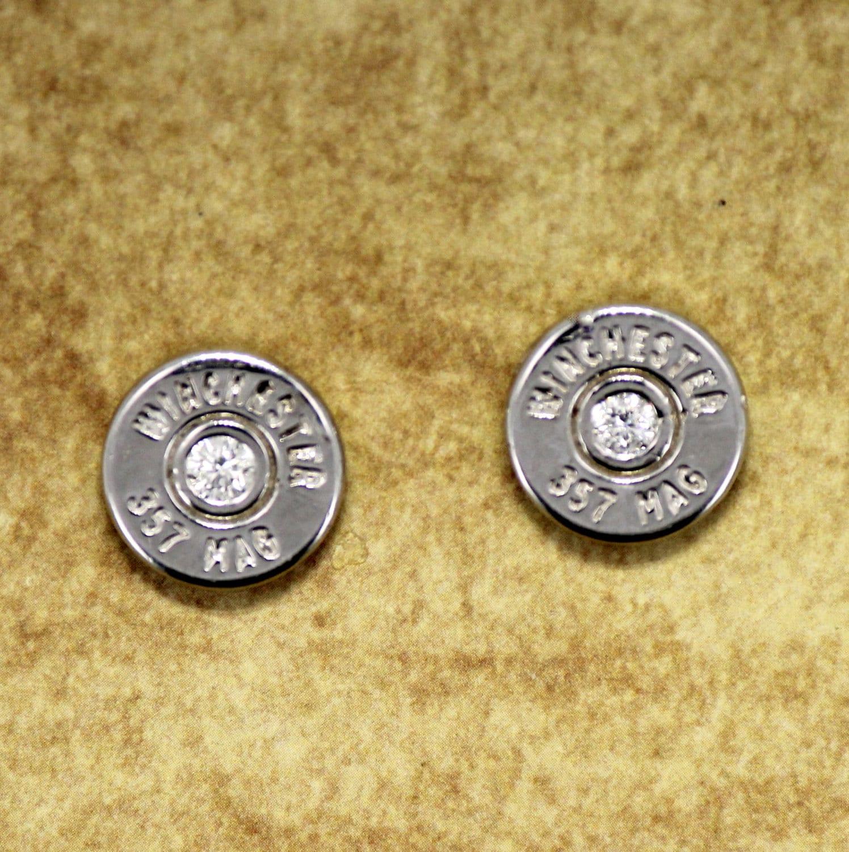bullet stud earrings 357 magnum bullet earrings winchester 174