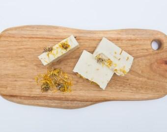 Organic Healing Calendula and Oatmeal soap- natural, vegan, palm oil-free & handcrafted