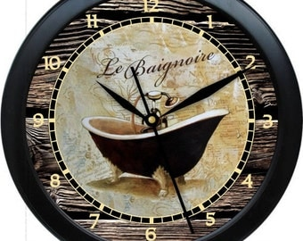 "Tube Time 11 Personalized 10"" Bathroom Wall Clock"