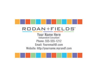 Rodan + Fields Full Color Business Cards