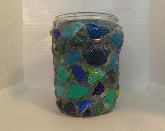 Blue Seashell Candle