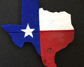Mini Texas salvaged wood wall hanging