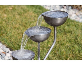 Tiered Cup Fountain Complete kit w/Pump /Plumbing/ Water Feature/ Basin kit in 3,5,7, & 9 Cup Configurations w/ Stainless or Copper Cup!!