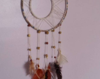 Medium, Multicolored Double Dream Catcher