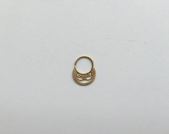 Kismet Ring Gold 16G Septum Ring