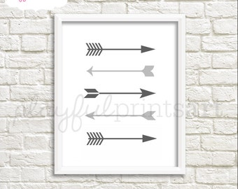 Arrows Print, 8x10, Instant Download