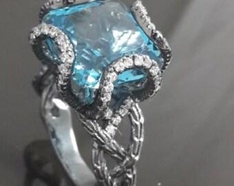 9mm london blue topaz ring