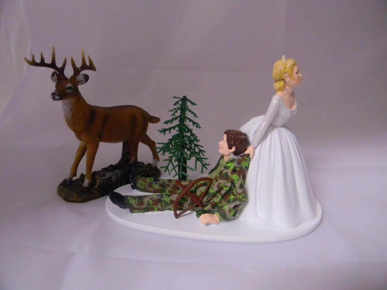 Wedding Reception Party bow & arrow camo deer hunting hunter