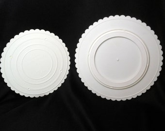 Wilton 12 Inch Cake Spinner, Lazy Susan, and 10 Inch Decorator Preferred Cake Plate