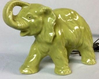 1950s Chartreuse Elephant TV Lamp