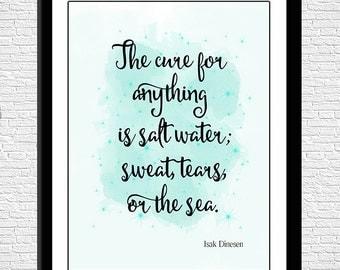 Quote Art, Beach Decor, Instant Download, 8 x 10 Digital Art Print