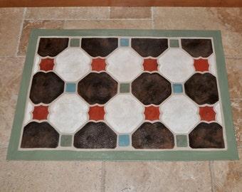 tiles no.2 - mocha / ivory