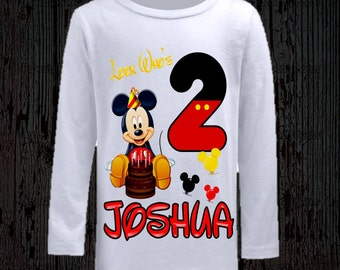Mickey Mouse Birthday Shirt - Long and Short Sleeve Available