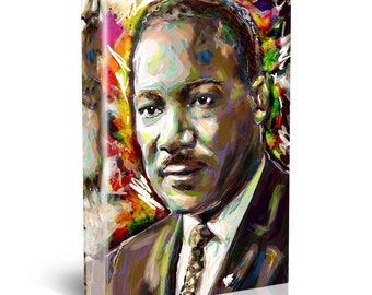 Martin Luther King Painting, MLK Canvas, MLK Painting, Civil Rights Art