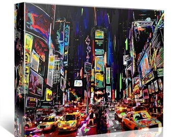 Times Square Art, NYC Canvas, New York painting