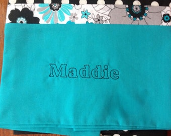 Monogrammed handmade pillowcases  your colors and design