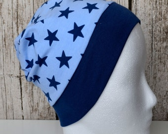 "Great handmade hat ""Jeans blue Stars"""