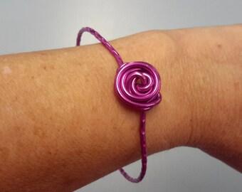 Cerise Pink Rose Bangle