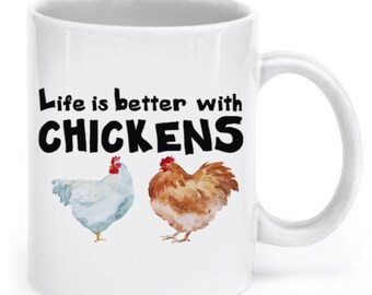 Chicken 11oz Coffee Mug, Tea Mug - Chickens, Roosters, Hens