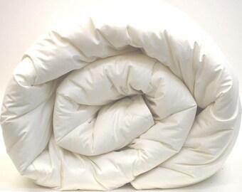 "Twin wool duvet or quilt comforter insert - 86"" x 64"""