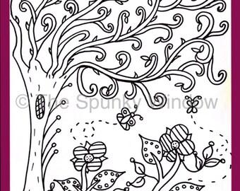 Beautiful Fun Coloring Page