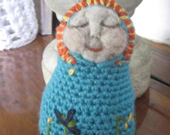 MATRYOSHKA, Crocheted Doll, Crochet Russian Babushka, Matryoshka, Nesting Doll, Handmade Doll,