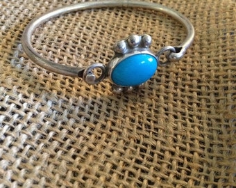 Sterling Silver and Turquiose Bracelet