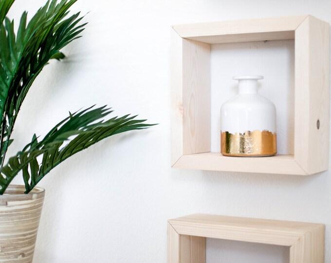 Single Square Wood Shelf
