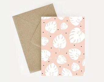 "Map style pattern patterned ""Palm leaf"""
