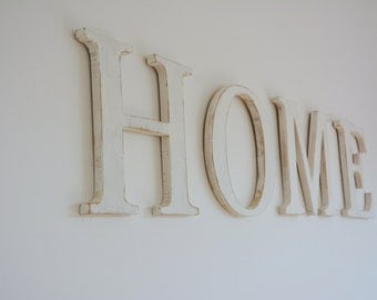 Distressed Wooden Wall Letters - 20cm