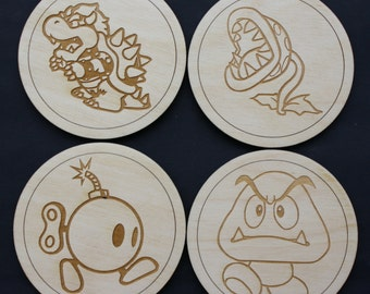 Super Mario Bros Inspired Villain Coaster Set