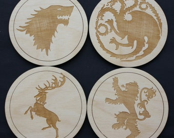Game of Thrones Inspires Coaster Set