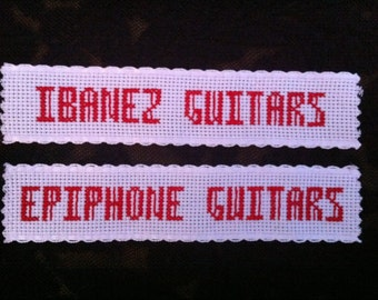 Labels and tags - cross stitch - personalised