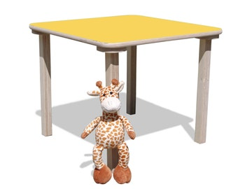 Children's table-unglaublich stabil-with colored table top