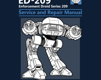 "LADIES FIT ""ED-209 Service and Repair Manual"" Robocop T-shirt"