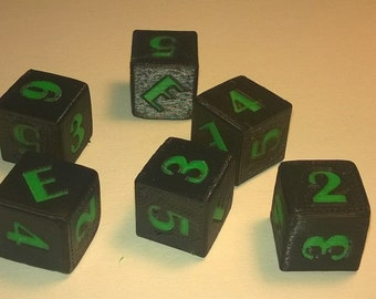 Personalized Six Sided Dice (Set of 5)
