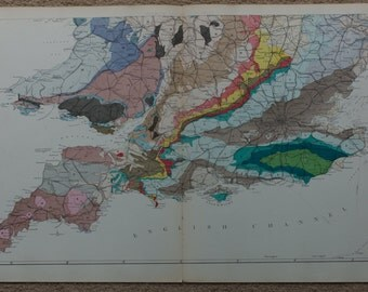 Geological Map Of England South