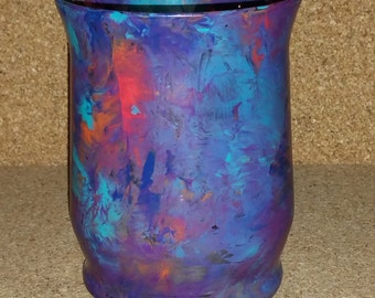 Pretty hand painted candle holder