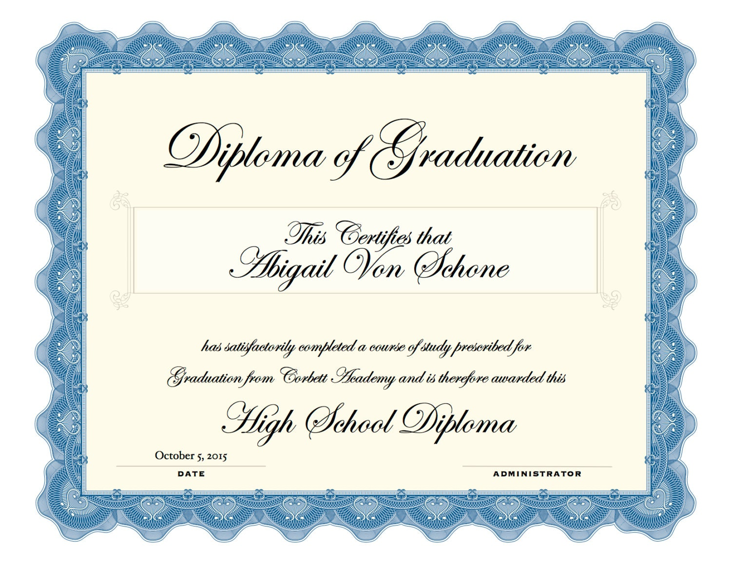 It is an image of Massif Printable High School Diploma