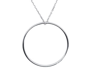Necklace large 35 mm sterling silver ring