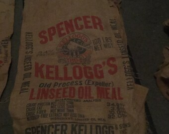 Spencer Kellogg Burlap Sack
