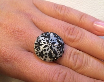 Handmade polymer clay ring