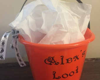Personalize Halloween Bucket