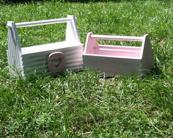 Shabby Chic Tool Boxes, Pink Tool Boxes, Girls Tool Boxes (made to order), Tool Boxes, Girl Toys