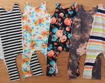Tank rompers choose fabric / free beanie or headband with purchase