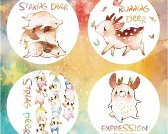 ystudio deer MaskingTape Four kinds of sets