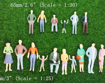 Miniature People Figurine, 7cm 1:30 Tiny Person, Human Woman Small Kids ,Terrarium Decoration, , Succulent Accessories, tiny world supplies
