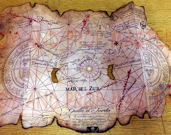 The Goonies One Eyed Willie's Pirates Treasure Map replica prop