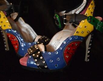 Women Shoes Swarovski crystals By LauraG-crystals.com