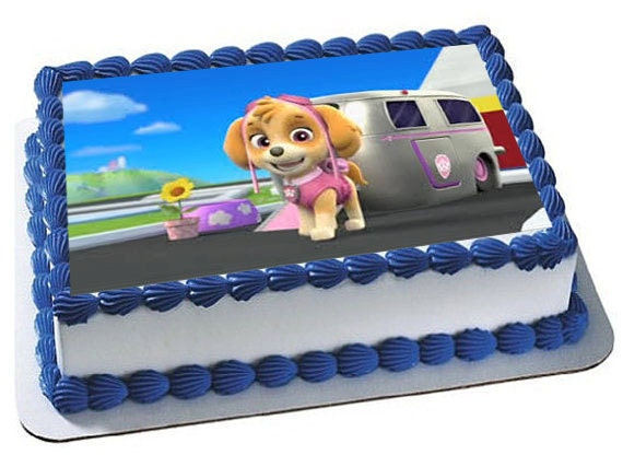 Edible Cake Decorations Paw Patrol : Paw Patrol Skye Cake Topper Skye Edible Image by ...